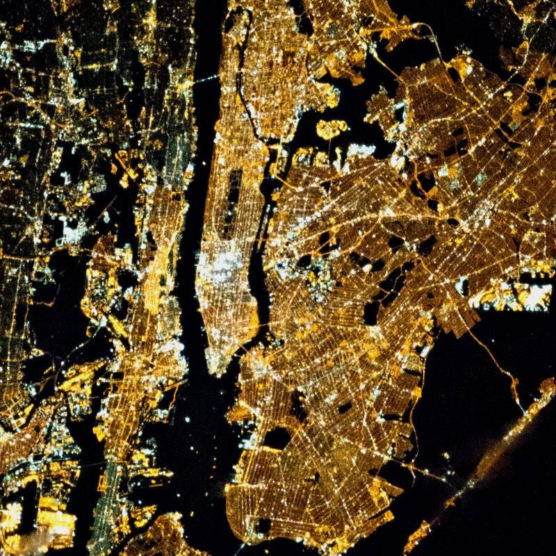 New York at Night from Space. Credits: NASA